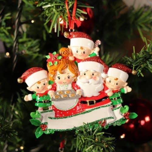 "Addobbo personalizzabile ""Babbo Natale Family"""