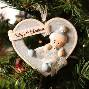 """Addobbo personalizzabile """"Il Primo Natale del nostro bimbo"""""""