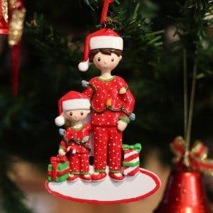"""Addobbo natalizio personalizzabile """"Tutto papà suo"""""""