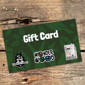 Gift Card da 10 € per Wonderwood, Grotto Carza e La Casetta delle Ragazze Ribelli