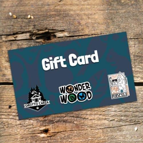 Gift Card da 25 € per Wonderwood, Grotto Carza e La Casetta delle Ragazze Ribelli