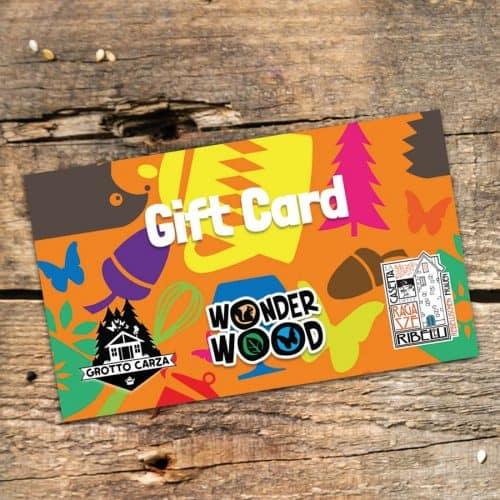 Gift Card da 50 € per Wonderwood, Grotto Carza e La Casetta delle Ragazze Ribelli