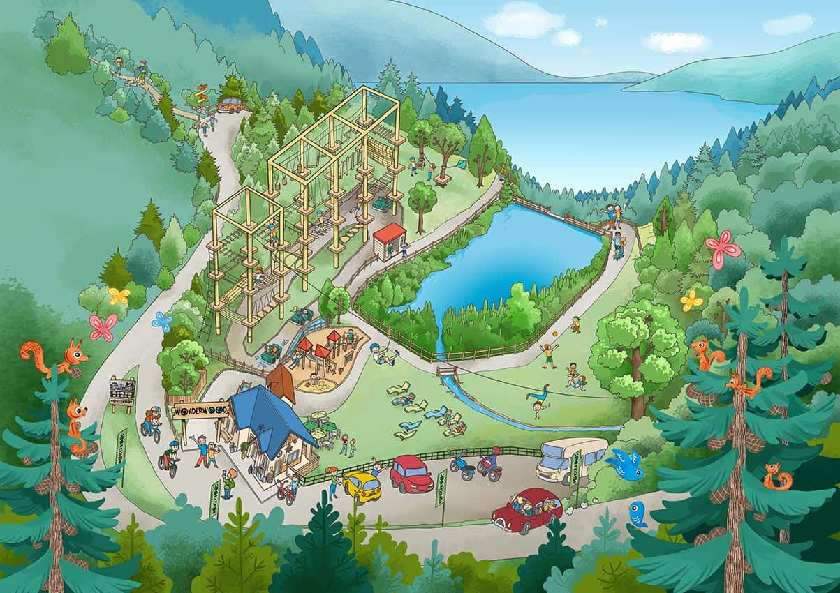 Mappa di Wonderwood