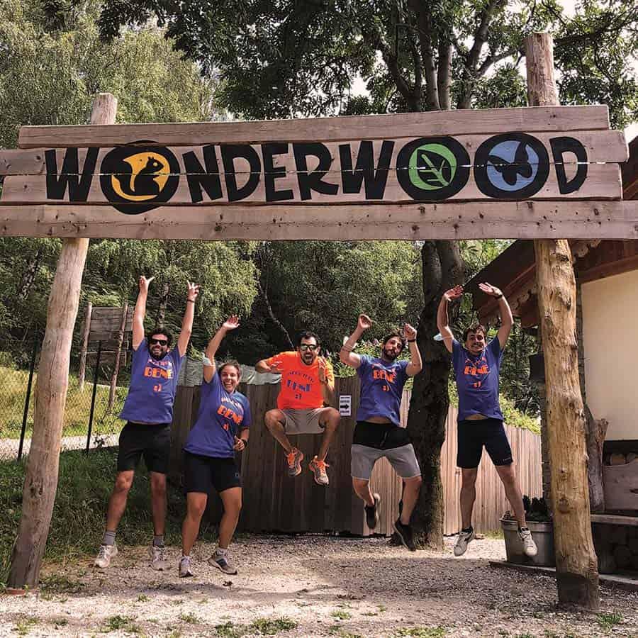 Addio al celibato a Wonderwood il parco avventura sul Lago Maggiore