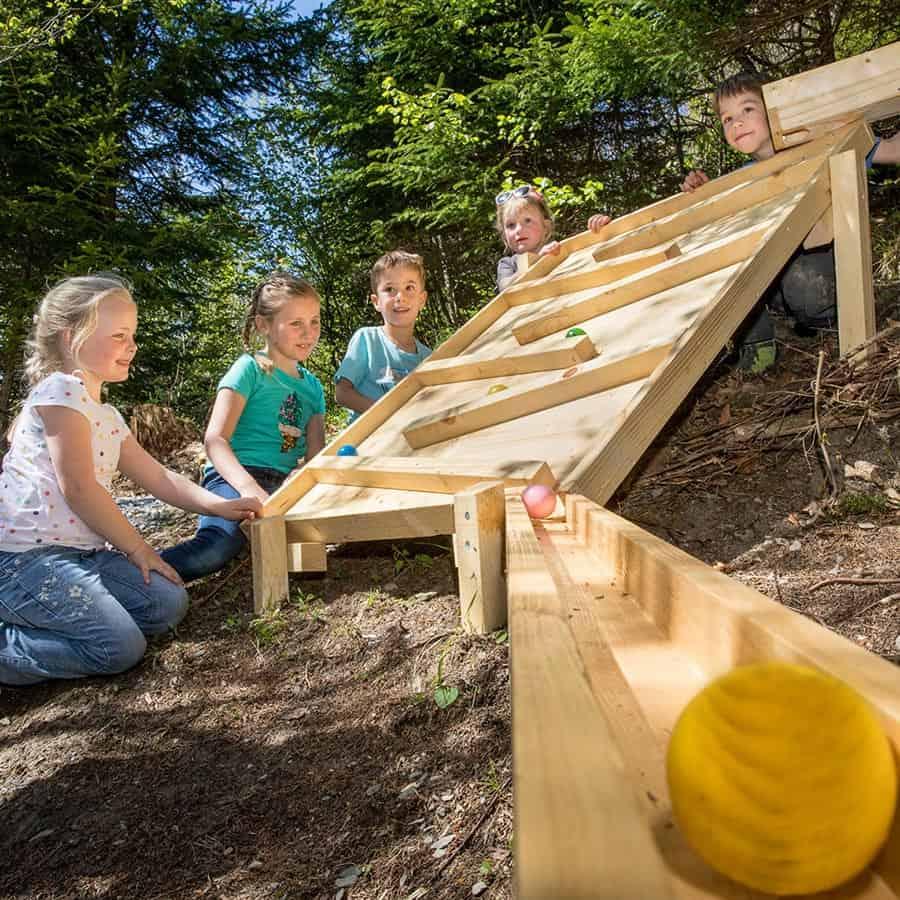 Pista Biglie di legno Wonderwood